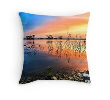 Sunrise Over Lake Texoma Throw Pillow