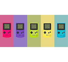 Game Boy Colors Photographic Print
