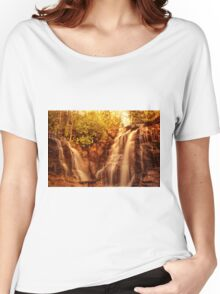 Waterfall at sunset Women's Relaxed Fit T-Shirt