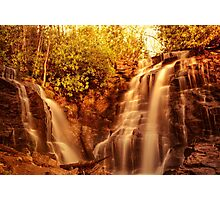 Waterfall at sunset Photographic Print
