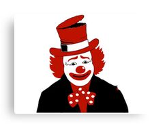 Mister Cool Clown With Dotted Bowtie Canvas Print