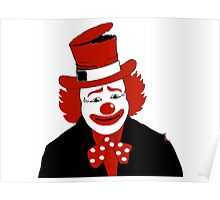 Mister Cool Clown With Dotted Bowtie Poster