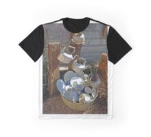 Washing Dishes - Country Style Graphic T-Shirt