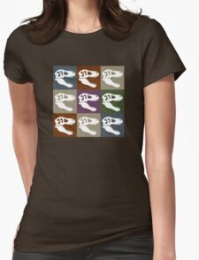 Tyrannosaur in Color - Earth Tones Womens Fitted T-Shirt