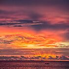 Vivid Sunset at Truk Lagoon by JohnKarmouche