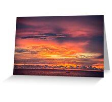 Vivid Sunset at Truk Lagoon Greeting Card