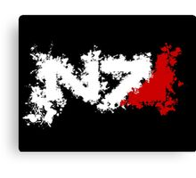N7 Splat Canvas Print