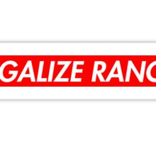 Legalize Ranch - Red - Eric Andre - Supreme font Sticker
