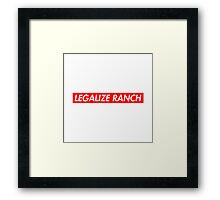 Legalize Ranch - Red - Eric Andre - Supreme font Framed Print