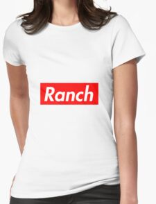 Ranch - Red - Eric Andre - Supreme font Womens Fitted T-Shirt