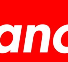 Ranch - Red - Eric Andre - Supreme font Sticker
