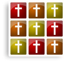 Colorful Christian Crosses Canvas Print