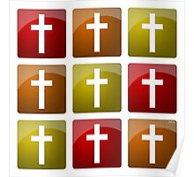 Colorful Christian Crosses Poster