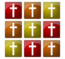 Colorful Christian Crosses Photographic Print