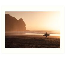 Piha Beach - Auckland - NZ Art Print