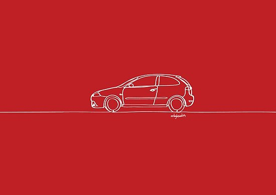 SEAT Ibiza - Single Line by douglaswood