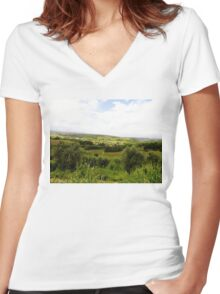 Outside the Fortress Women's Fitted V-Neck T-Shirt