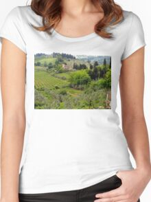Italian Countryside Women's Fitted Scoop T-Shirt