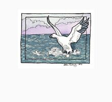 Snow Goose Watercolor Mens V-Neck T-Shirt