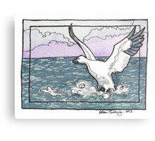 Snow Goose Watercolor Metal Print