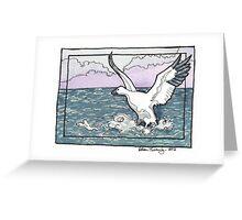 Snow Goose Watercolor Greeting Card