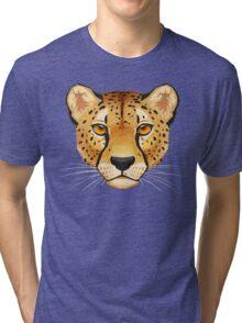 Cheetah Face Tri-blend T-Shirt