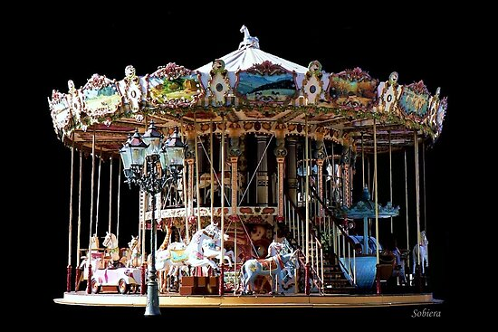 Historic Two-Stage Carousel by Rosemary Sobiera