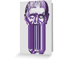 Greek head - purple. Greeting Card