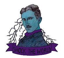 Nikola Tesla - Shock the World Photographic Print