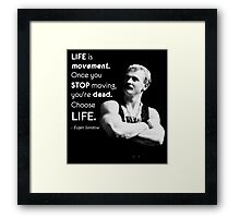 Life Is Movement - Eugen Sandow Old School Bodybuilding Motivaiton Framed Print