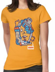 Cyborg Howdy! Womens Fitted T-Shirt
