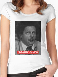 Legalize Ranch - Red - Eric Andre Picture - Supreme font Women's Fitted Scoop T-Shirt