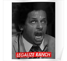 Legalize Ranch - Red - Eric Andre Picture - Supreme font Poster