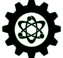 Technomage Industries Steampunk Cog - neon green outline by aromis