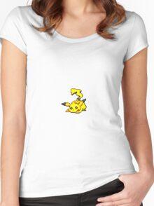 Pikachu Pixel Art Women's Fitted Scoop T-Shirt