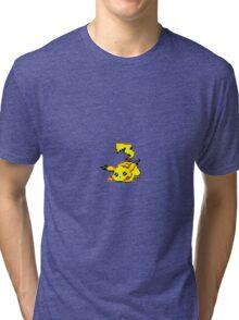 Pikachu Pixel Art Tri-blend T-Shirt