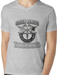 Logo - The Green Berets Mens V-Neck T-Shirt