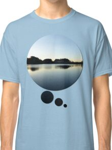 Indian summer sunset at the fishing lake V | waterscape photography Classic T-Shirt