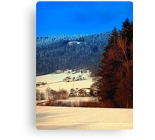 Bohemian forest winter scenery | landscape photography Canvas Print