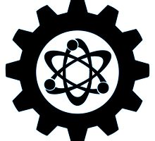 Technomage Industries Steampunk Cog - neon light blue outline by aromis