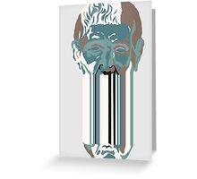 Greek head - blue. Greeting Card