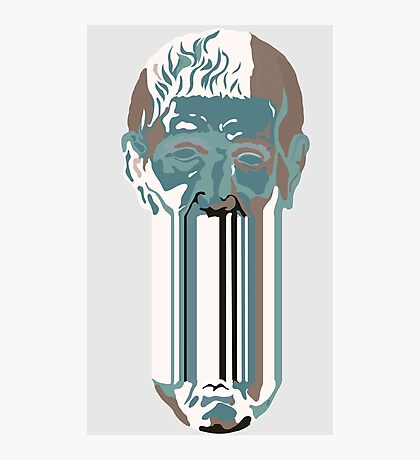 Greek head - blue. Photographic Print