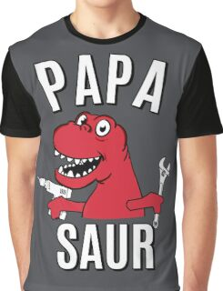 PAPA SAUR SMILE DINOSAUR Graphic T-Shirt