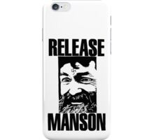 Release Manson - Manson Release iPhone Case/Skin