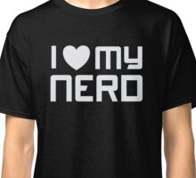 I Heart - Love - My Nerd - Geek T Shirt 2 Classic T-Shirt