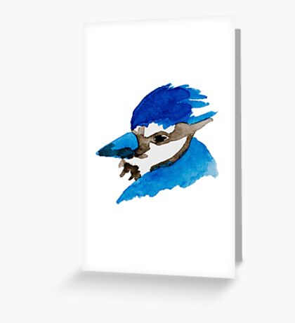 Blue Jay Watercolor Greeting Card