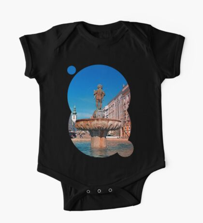 Naked boy bum on the water One Piece - Short Sleeve