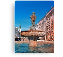 Naked boy bum on the water Canvas Print