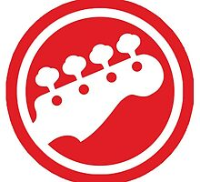 Scott Pilgrim bass logo sticker by turkeysamwich