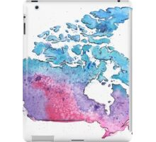 Hand Painted Watercolor Map of Canada in pink, blue and purple - Giclee Print of My Own Painting iPad Case/Skin
